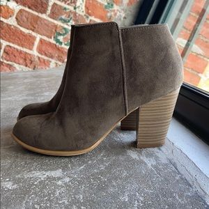 Olive Ankle Booties